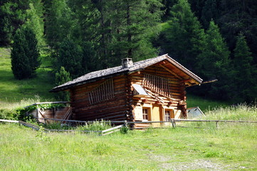 Hütte am Col Raiser