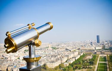 View on Paris. Birds eye view