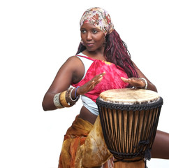 Colorful Djembe Drummer