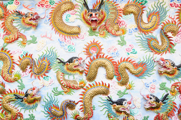 Chinese dragons background