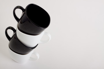 Four Coffee Mugs Design With Copyspace