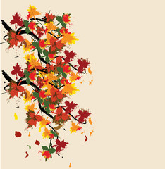 autumn painted card