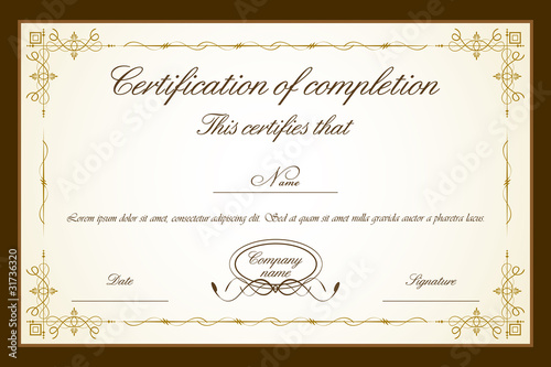 Certificate template stock image and royalty free vector files on certificate template yadclub Image collections