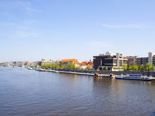 beautiful views of the city in summer. Prague, Czech Republic.