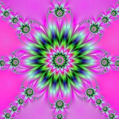Wall Murals Psychedelic Rosette on Pink