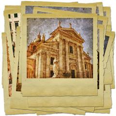 Urbino - retro style photo collage