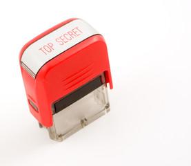 top secret red ink stamper