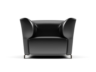 Armchair on a white background.