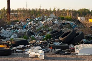 Illegal waste dump