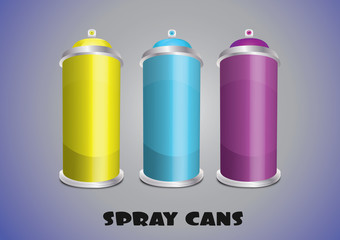 spray cans 3x set