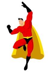 Aluminium Prints Superheroes Superhero in flying pose