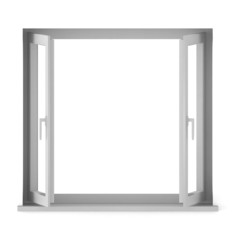 3d render of opened window