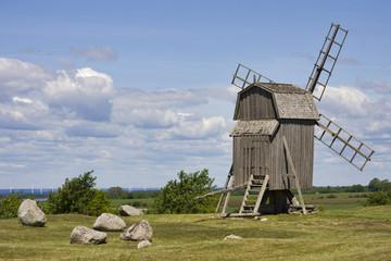 windmühle bei gettlinge auf öland in schweden