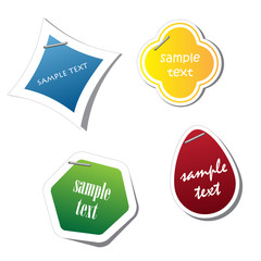 vector sticker for your sample text