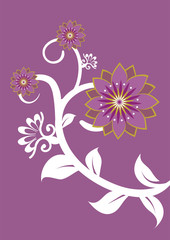 Stock Vector Illustration: Flower backdrop