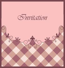 Nice purple invitation with ornamental elements
