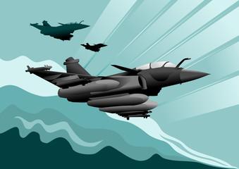 Keuken foto achterwand Militair military aircraft