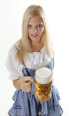 Printed kitchen splashbacks Fairytale World Woman with beer mug