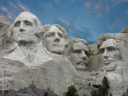 Wall mural Colors of Sunset over Mount Rushmore, U.S.A.