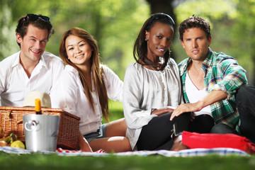 Freunde machen Picknick