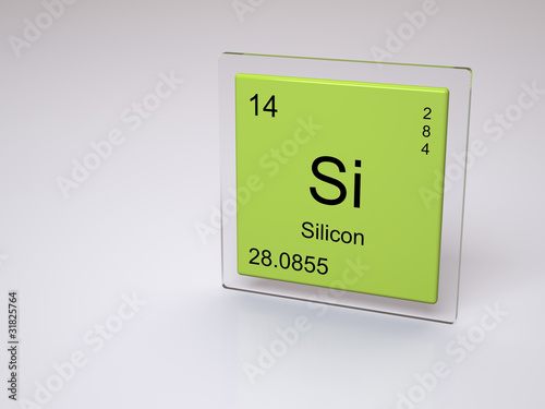 Silicon Symbol Si Chemical Element Of The Periodic Table Stock