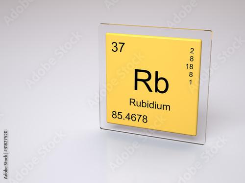 Rubidium Symbol Rb Chemical Element Of The Periodic Table Stock