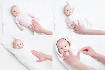 Obraz wie wird ein Baby gepuckt - fototapety do salonu