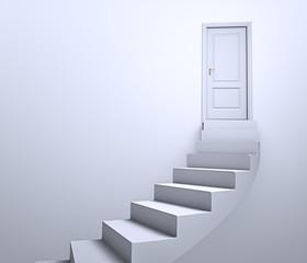 Abstract doorway leading to closed doors