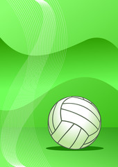 Vector volleyball background