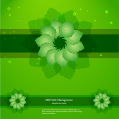 Abstract floral green background. Vector illustration