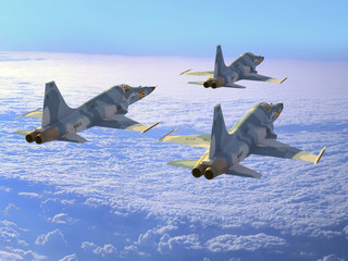 Foto op Canvas Militair The plane