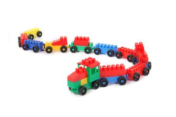 plastic train