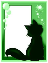 cartolina d'auguri con gatto