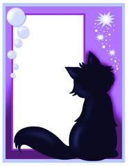 biglietto d'auguri con gatto