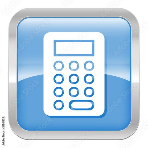 Pictogramme calculette s rie carr bleu fichier for Calculette en ligne gratuite