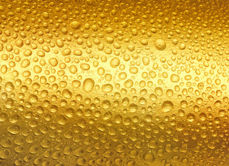 Abstract golden drops of water.