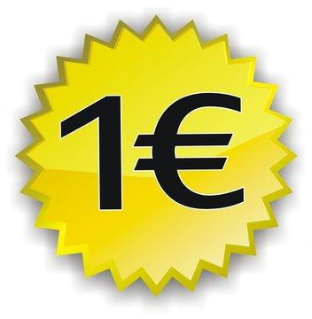 étiquette 1 euro