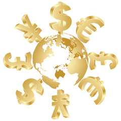 money symbols around the world