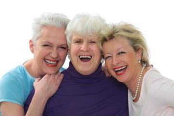 drei lachende Senioren
