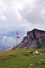 Die Fahne der Puéz Hütte