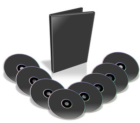 Many Black DVD's.