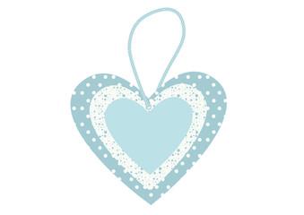 Hellblaues Herz - Preisschild-Anhänger Preissticker