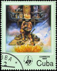 CUBA - CIRCA 1985 Shaman
