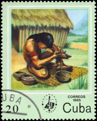 CUBA - CIRCA 1985 Potter