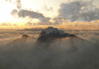 Montagna nuvole