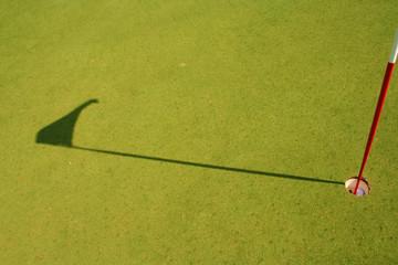 sombra banderin golf, shadow golf banner