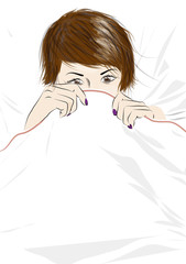 躺在床上的性感女孩
