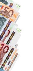 Border from euro banknotes