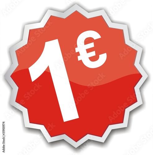 tiquette 1 euro photo libre de droits sur la banque d. Black Bedroom Furniture Sets. Home Design Ideas