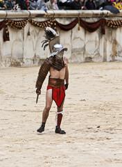 gladiateur dans les arènes